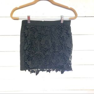 AEO   lace front mini skirt